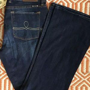 NWT Lucky Brand Sofia Boot Dark Indigo Jeans 12/31